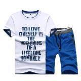 ราคา Kisnow 2 Pieces Korean Sports Fashion Pant T Shirt Color Blue ออนไลน์