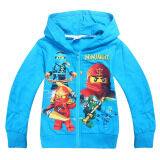 ทบทวน Kisnow 3 12 Yrs Boys 100 145Cm Body Height Cotton Thin Long Sleeve Cardigan Color Blue