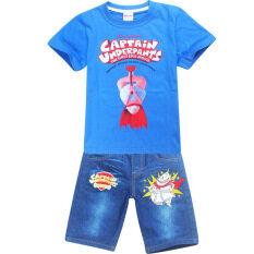 ราคา Kisnow 3 15 Yrs Boys 100 155Cm Body Height 2 Pieces Cotton Jeans Pant T Shirts Color Main Pic เป็นต้นฉบับ Kisnow