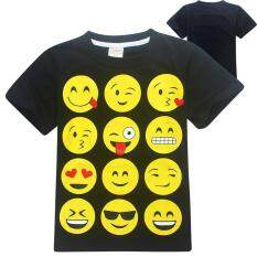 โปรโมชั่น Kisnow 4 14 Years Old Boys 105 155Cm Body Height Cotton Cartoon T Shirt Color Black ใน จีน