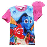 ราคา Kisnow Girls 3 12 Years Old 95 145Cm Hight Boys Finding Dory Cotton T Shirts Tops Color Rose ออนไลน์ จีน