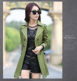 ขาย Kisnow Lady Korean Fashion Lace Down Slim Windbreaker Coat Lightweight Jackets Color Army Green เป็นต้นฉบับ