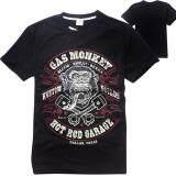 ราคา Kisnow Men Gas Monkey Garage Cotton T Shirts Color Black ใหม่ล่าสุด