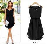 โปรโมชั่น Kisnow Slimy Chiffon Diamond Midi Dresses Color Black Kisnow ใหม่ล่าสุด