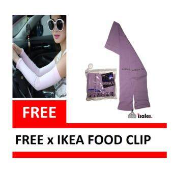 Harga KOREA AQUA-X UV Protection & Ice Silk Cooling Arm Sleeves(Purple)