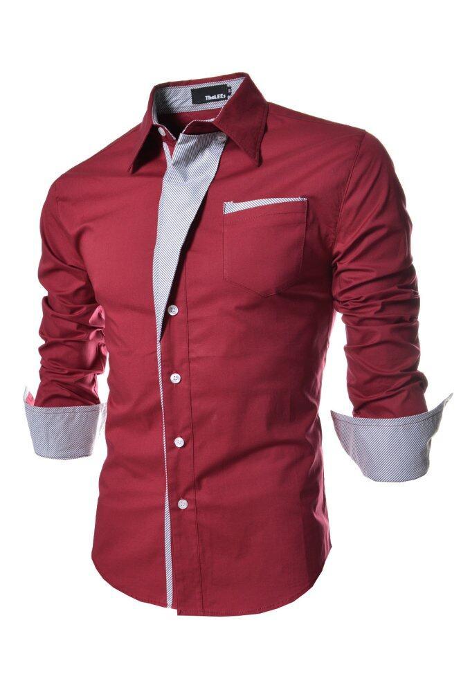 Korea Design Button-Down Formal Long Sleeved Business Shirts ...