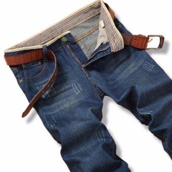 Korea Leisure Loose Straight Jeans For Men Denim Jeans TrousersPlus Size Big Large Pants 28-