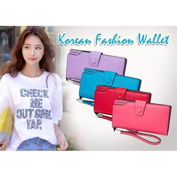 korean fashion clip wallet
