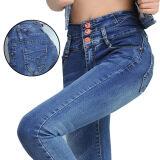 ซื้อ Korean Fashion High Waist Pure Cotton Slim Pencil Pant Jeans Color First Pic ถูก ใน จีน