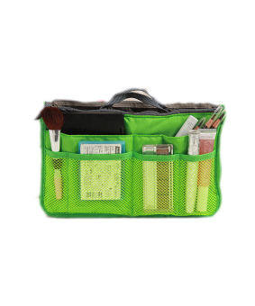 Harga Korean Fashion Lightweight and Water-Resistant Multi-CompartmentBAG IN BAG Organizer Green