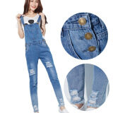 ขาย Korean Fashion Overall Pure Cotton Loose Pant Jeans Color First Pic ผู้ค้าส่ง