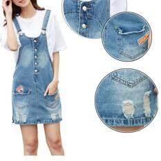 ขาย Korean Fashion Pure Cotton Demin Midi Jeans Skirt Color First Pic ใน จีน