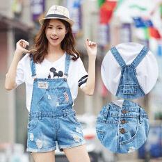 โปรโมชั่น เกาหลีแฟชั่นฝ้ายผ้ายีนส์ Shortall กางเกงยีนส์กางเกง สี รูปแรก นานาชาติ