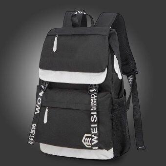 Korean-style female high school student school bag backpack (Black)