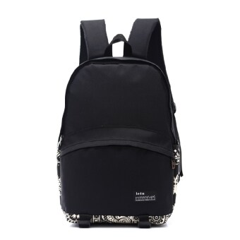 Korean-style Female Male big high school students casual school bag backpack (Small Flower)