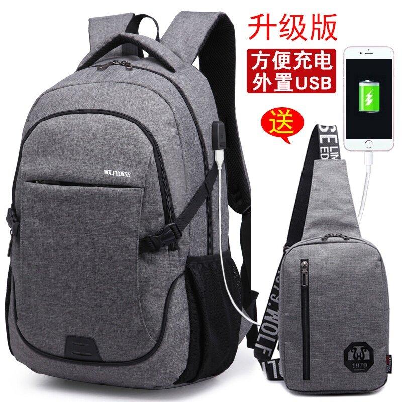 ... WDPR pria Korea ransel tas dada Biru dengan putih inovatif versi enam set Source Gaya Korea
