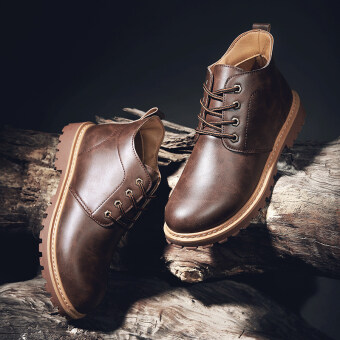 Harga Korean-style hight-top boots Dr. Martens (Cuba Brown)