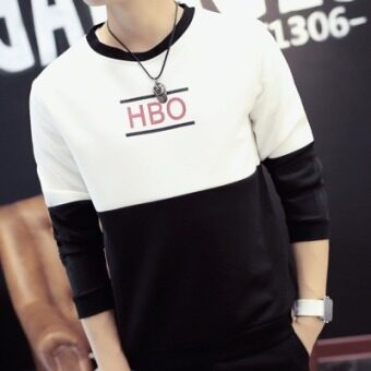 Korean-style New style Spring and Autumn baseball clothes handsome jacket autumn jacket (HBO white hoodie)