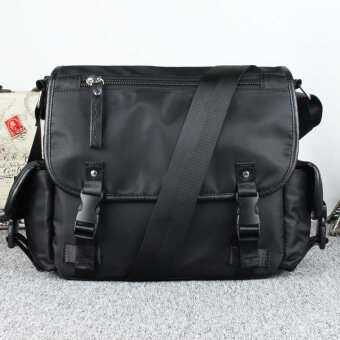 Korean-style nylon cross-body clamshell briefcase student's bag