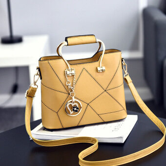 Korean-style shoulder New style cross-body small bag women's bag (Yellow)