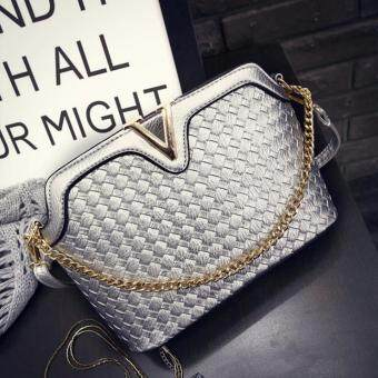 Harga Kstyle 9211 Korean Favorite Casual Design Sling Bag (Silver)