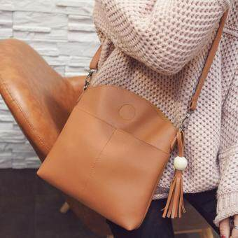 Harga Kstyle 933 Elegant Korean Casual Design CrossBody Sling Bag (Brown)