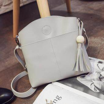 Harga Kstyle 933 Elegant Korean Casual Design CrossBody Sling Bag (Grey)