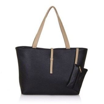 Harga Kstyle Fashion Tote Handbag and Purse (Black)