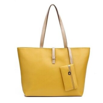 Harga Kstyle Fashion Tote Handbag and Purse (Yellow)