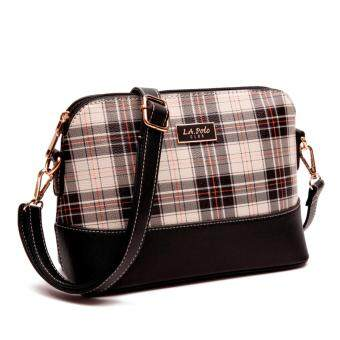 LA POLO LA 20612 CROSS BODY BAG (BLACK/WHITE)