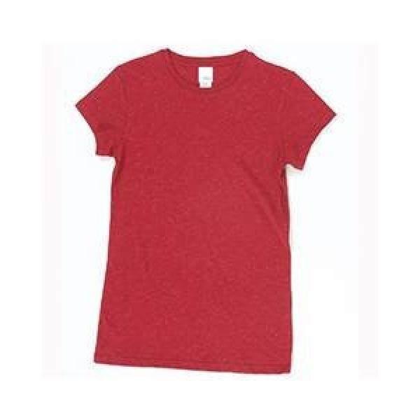 Ladies Crew Neck T-Shirt - Cardinal Red Glitter - intl