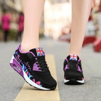 LALANG Women Casual Sports Shoes Sneakers Breathable Outdoor Walking Running Shoes Purple