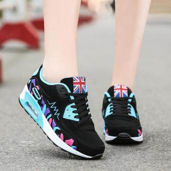 LALANG Women Casual Sports Shoes Sneakers Breathable OutdoorWalking Running Shoes Blue