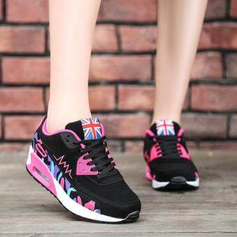 LALANG Women Casual Sports Shoes Sneakers Breathable OutdoorWalking Running Shoes Hotpink