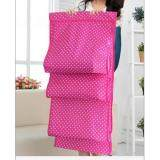 Large Hanging Closet Bag Storage Organizer Holder with Hanger(Pink)
