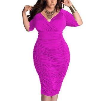 Ukuran Besar Wanita Gaun Retro Besar Ukuran Vestidos 2018 Musim Semi Musim Panas Pakaian Antik Plus