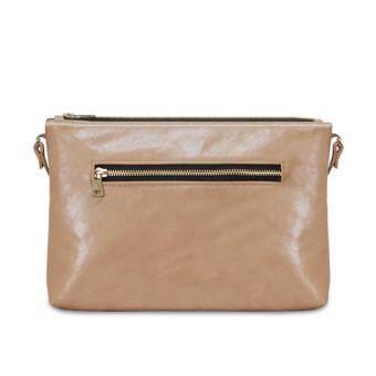 Latinas Genuine Leather Casual Sling Bag (Beige) - 3