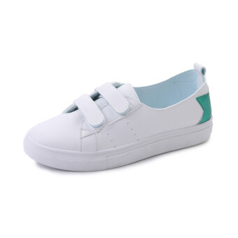 Harga Lazy versatile female women's shoes white shoes (Green) (Green)