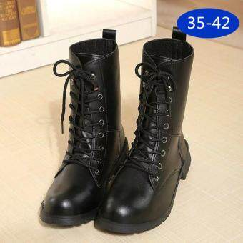 Harga LCFU764 New Fashion England Style Dr. Martin Boots Couple's MartinShoes Women Marten Dr Designer Motorcycle Boots