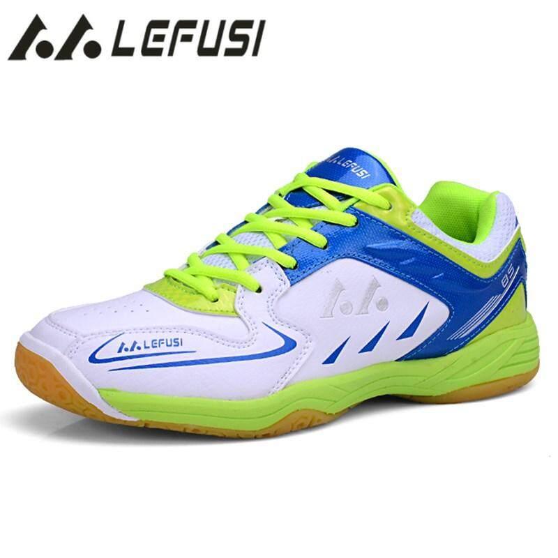 Lefus Pria Bulutangkis Sepatu Berkualitas Tinggi EVA Otot Anti-Slippery Latihan Profesional Sneakers Wanita Sport Bulutangkis-Internasional