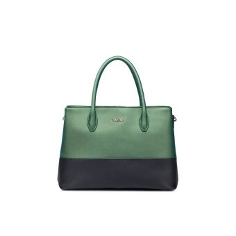 LetDo LetDo NUCELLE Real Genuine Cowhide Leather Purse Satchel Tote Shoulder Hand Bag Handbag Colorful Women Green Black