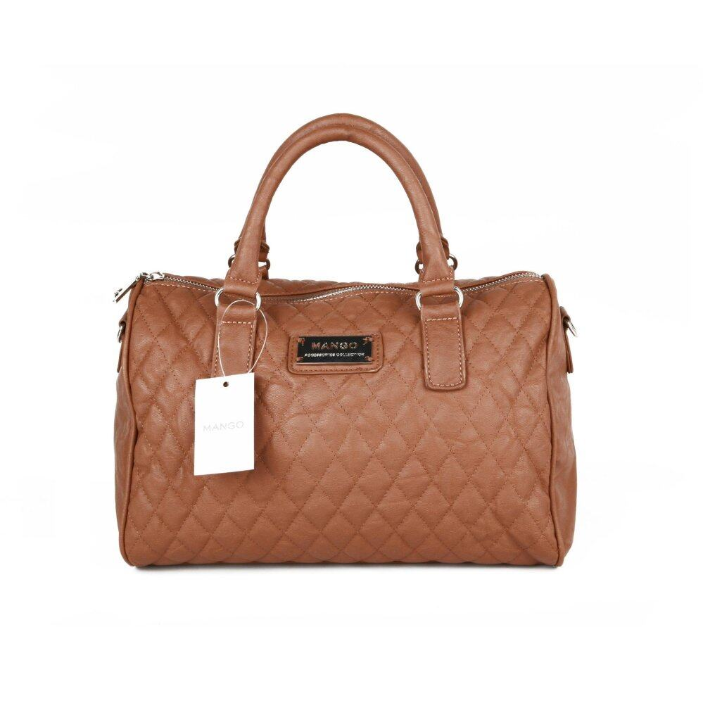 Leung Mango Quilted Bowling Cross Body Leather Hand Bag(Brown) - intl