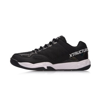 Li Ning aytn 019 breathable mesh wear and indoor training shoes athletic shoes (Standard black/Ning snow gray/standard white)