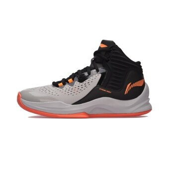 LI-NING New style Damping Support packaging shoes sports shoes basketball shoes (Ceramic gray/Standard black)