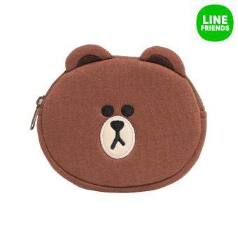 LINE FRIENDS COIN PURSE_BROWN(FACE)