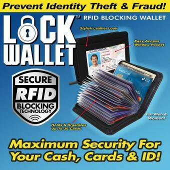 Lock Wallet Slim And Safe Protection Wallet With RFID Blocker