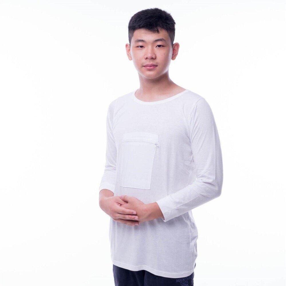 T-shirt Lengan Panjang Berpoket Zip Untuk Haji Dan Umrah