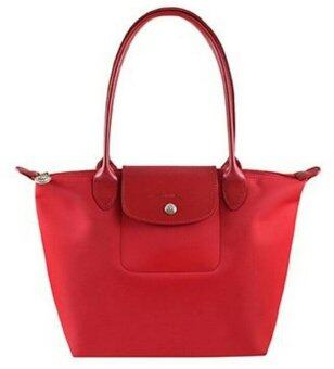 Longchamp Planates Medium Long Handle - red