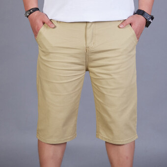 LOOESN summer thin stretch Plus-sized casual shorts (Khaki 518)