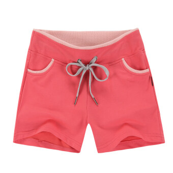 Loose female running summer Slim fit casual shorts sports shorts (Watermelon red) (Watermelon red)